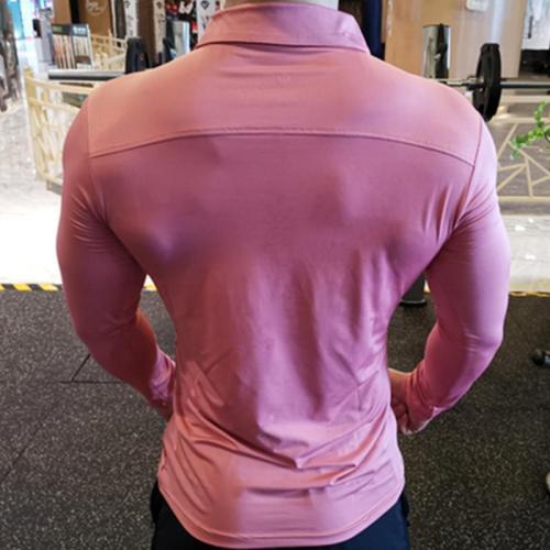 Autumn Men's Casual Turndown Collar T-Shirts