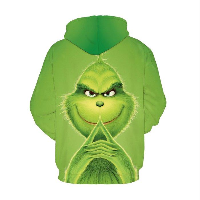 How The Grinch Stole Christmas Hoodie Long Sleeve Casual Sweatshirt Jacket Coat