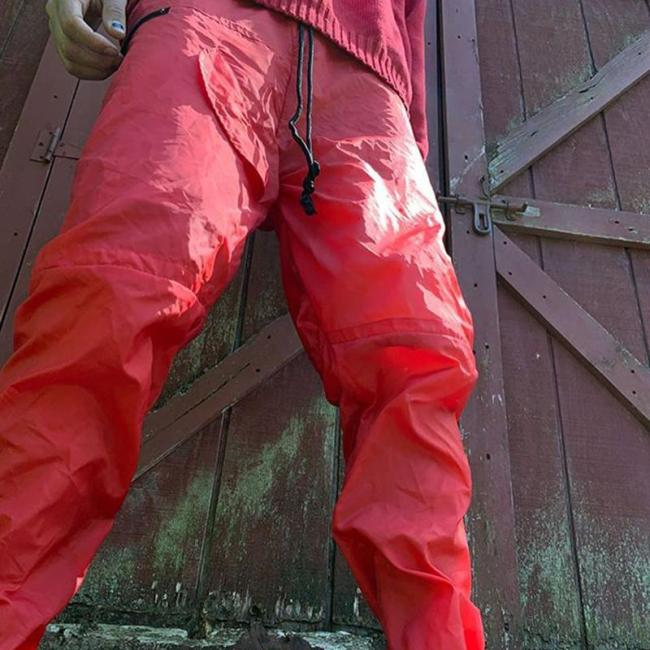 Red casual loose mens trousers TT010