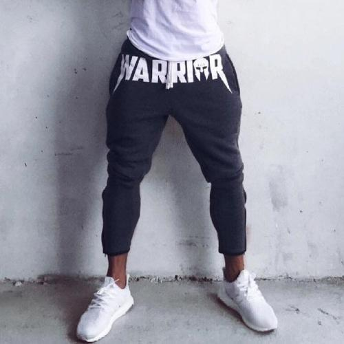 Bravonew Slim Sports Jogger Pants Gray/Black