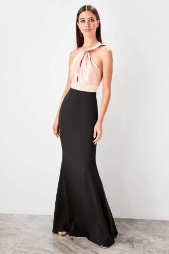 Trendyol Satin Collar Detail Evening Dress Dress TPRSS19AE0023
