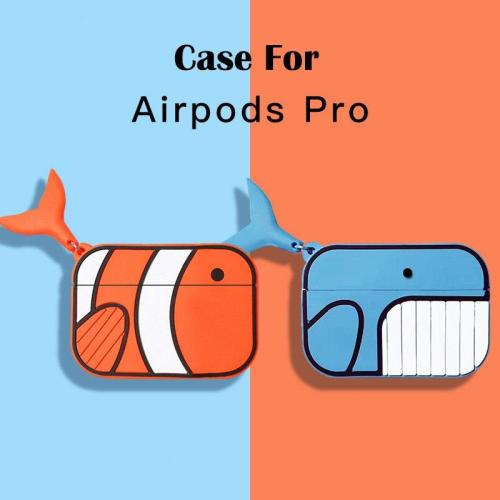 Kawaii 3D Fish NEW AirPods Pro Charging Headphones Cases For Airpod Protective Cover