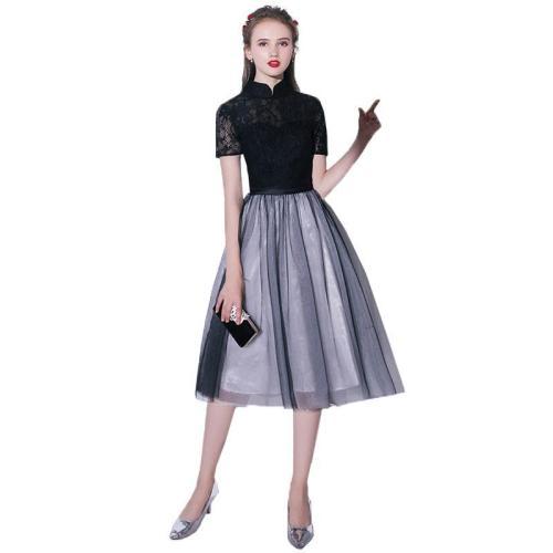 robe de soiree beautiful Elegant lace evening dress fashion Lace black evening gown The Bride dinner formal Dresses