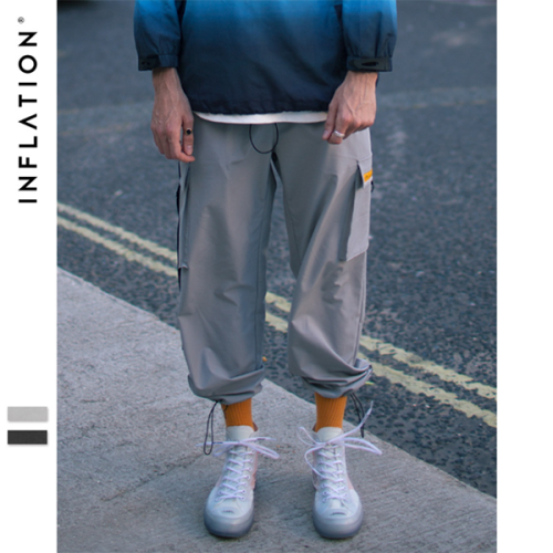 Street Style Ribbon Adjustable Loose Pants