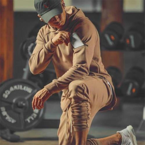 Fashion Casual Youth Sport Slim Plain Long Sleeve Pocket Hoodie