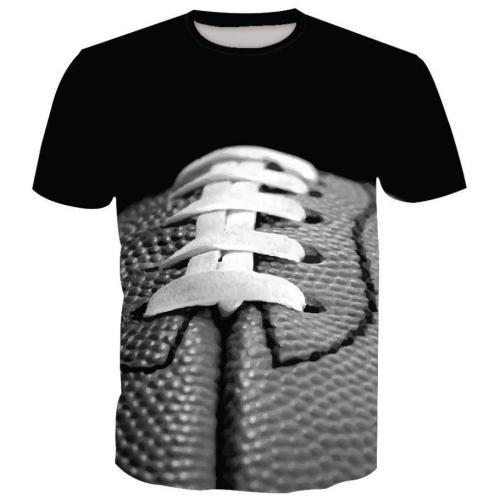 [SUPER BOWL] Rugby Digital Print Short Sleeve T-Shirt