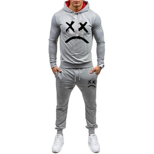 2019 Men Fashion Long Sleeve Hoodies+Pants Set Male Tracksuit Sport Suit Men's Gyms Set Casual Sportswear Suit