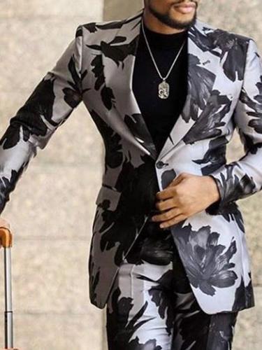 Notched Lapel Slim Fashion leisure Suit