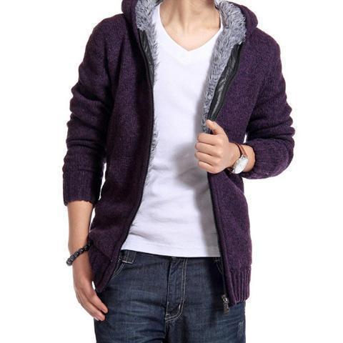 Fashion Winter Thicken Plain Floss Sweater Coat