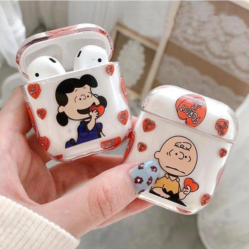 Snoopy Transparent Hard Pattern AirPod Case Cover
