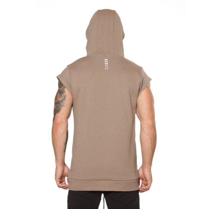Sports Short Sleeved   Cotton Stretch Hooded T-Shirts