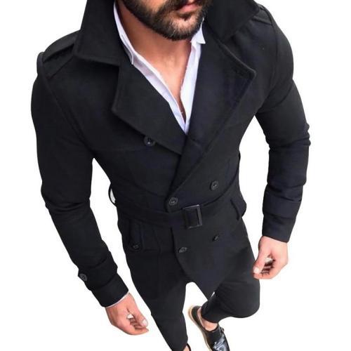 Men Winter Warm Windbreaker Trench Woolen Coat Retro Jacket Men Coat Jackets Double Breasted Fashion Male Winter Autumn Overcoat