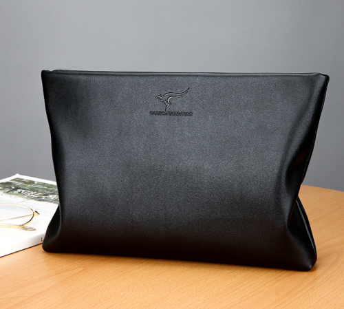 Soft leather large-capacity envelope bag clutch