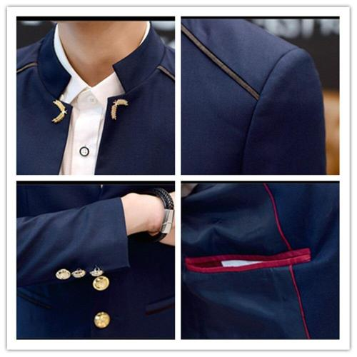 Blazer Men 2020 Spring and Autumn Fashion Casual Men Solid Color Stand Collar Large Business Casual Slim Mens Blazer Jacket