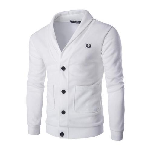 Mens Fashion Plain Button Knit Packet Coat