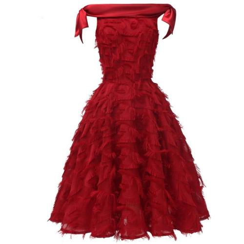 sexy One word led Formal Evening Gown Party elegant tassel evening Dress Slim fit delicate evening Dresses vestido de festa