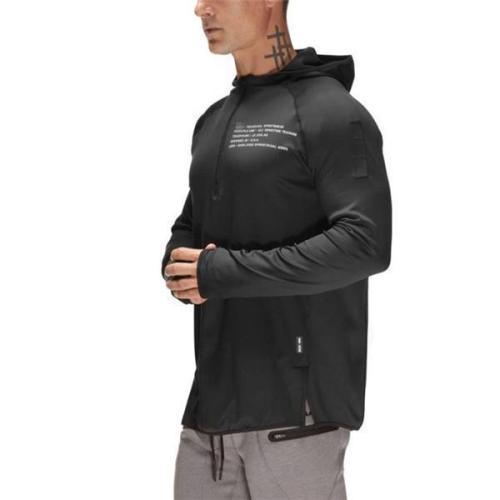 Fashion Youth Casual Sport Slim Print Long Sleeve Hoodie
