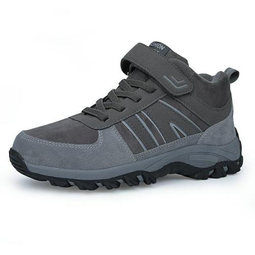 Men Boots Fashion Flock Men's Boot Shoes Winter/Autumn Women Boots Simple Style Anti-Skidding Unisex Ankle Boots Men Sneakers