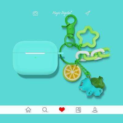 Bulbasaur AirPods Pro Charging Headphones Cases With Keychain Doll