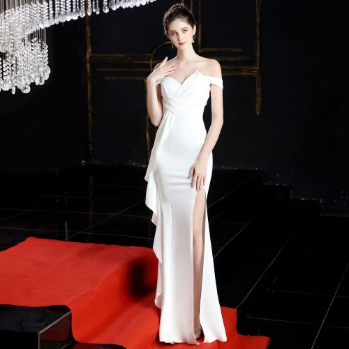 One word collar Formal Evening Dresses Pretty Mermaid evening Gowns noble Long Party Gowns fashion Sexy evening Dress
