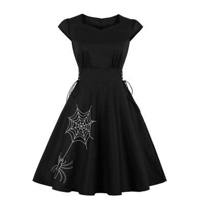 robe de soiree fashion Retro Prom Dresses elegant embroidery Evening Dress Slim fit Black evening gown