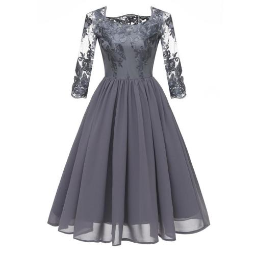 robe de soiree Formal prom Lace evening dress embroidery noble evening gown Hollow Out chiffon party Big yards dresses