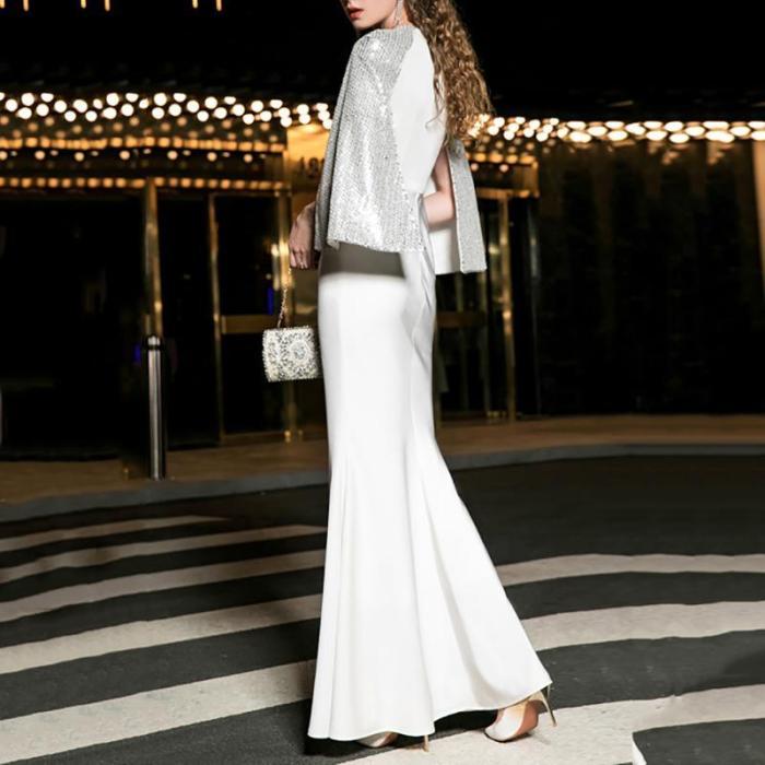 Fashion V Neck Sexy Fishtail Dress