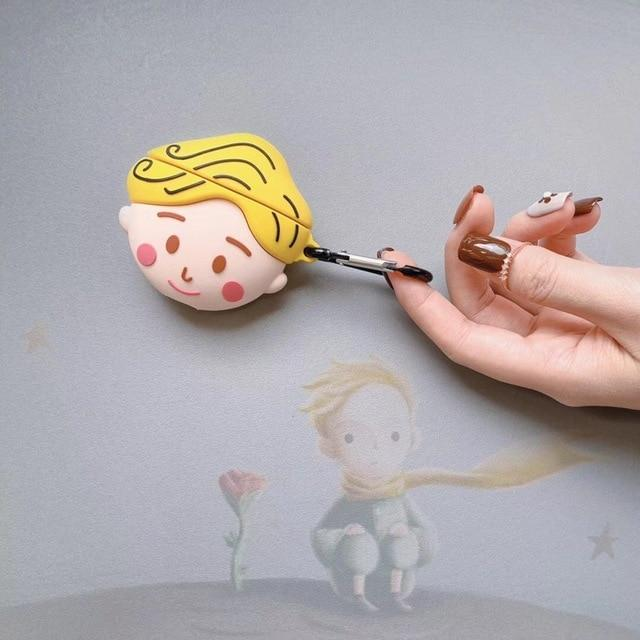Kawaii 3D The Little Prince Silicone AirPods Case Shock Proof Cover