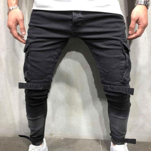 Fashion Slim Plain Packets Jeans Pants