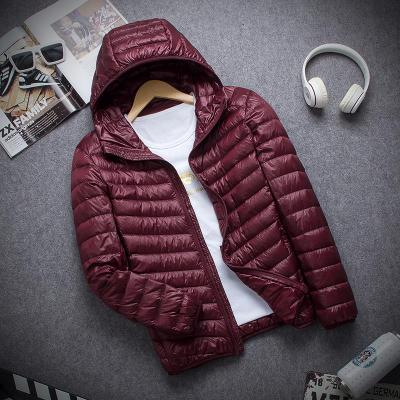 New Brand Autumn Winter Light Down Jacket Men's Fashion Hooded Short Large Ultra-thin Lightweight Youth Slim Coat Down Jackets