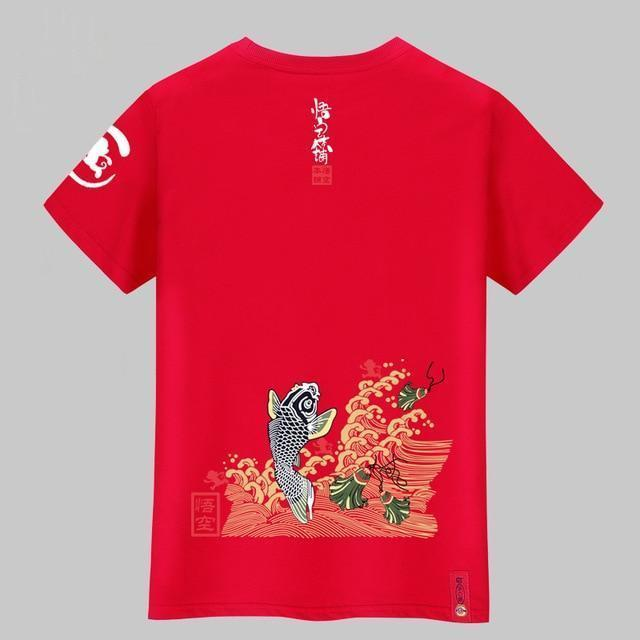 Fashion Squid Print T-shirt 100% Cotton Short-sleeved Fitness T-shirt
