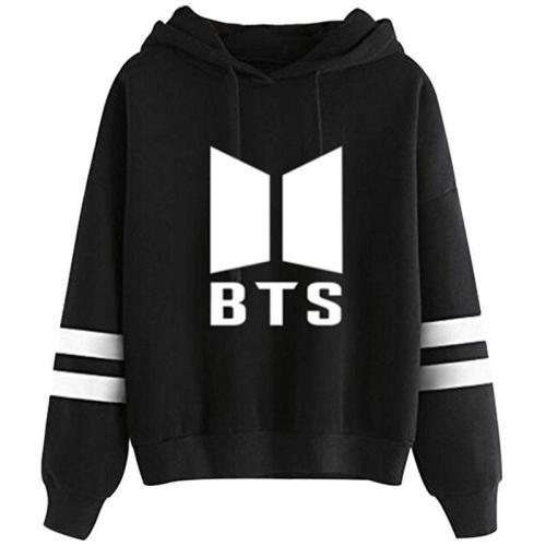 Hot bulletproof juvenile BTS letter printed long-sleeved hooded sweater