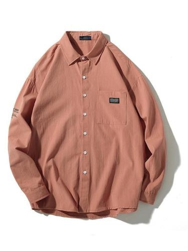 Men Casual Long Sleeves Simple Fashion Shirt
