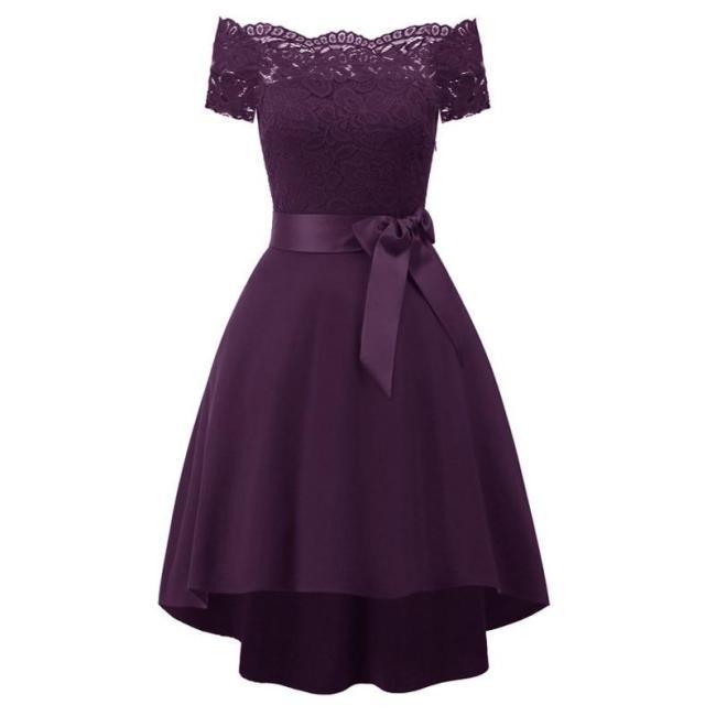 robe de soiree Elegant Short Evening Dress New Stylish bowknot formal dress Party Dresses short sleeves evening gown