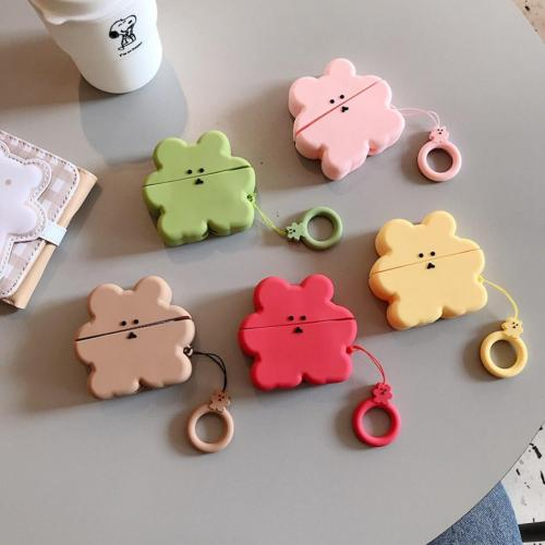 3D Bear Silicone AirPods Pro Case Shock Proof Cover
