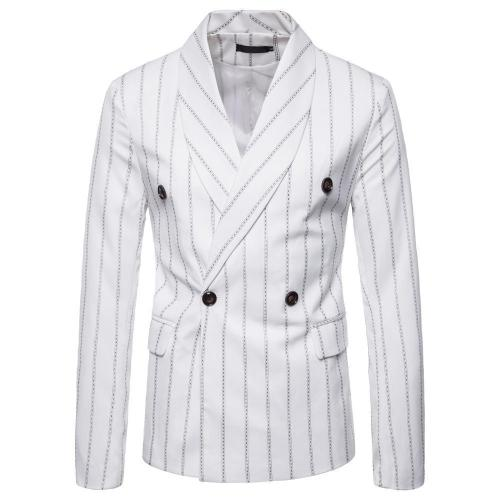 Casual Simple Stripe Packet Slim Suit Coat