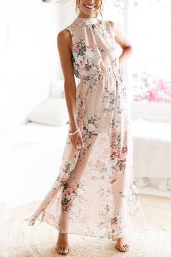 Blush Floral Maxi Dress