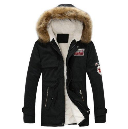 2020 Winter New Style Fleece Warm Men's Coat Parka Thick Warm Fur Collar Jacket Men Fit Comfortable Long Cotton Hooded Parka Men