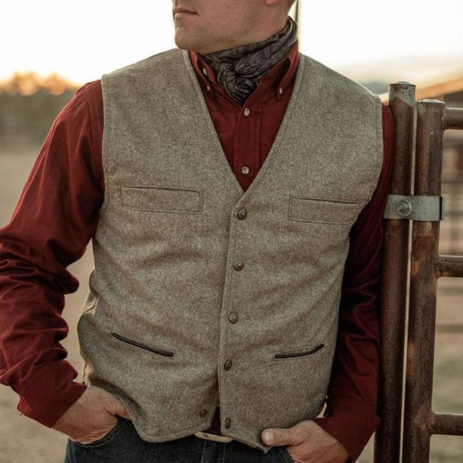 Fashion casual retro business men's vest