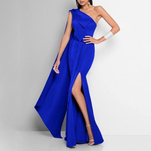 Fashion Sexy One-shoulder Evening Dress
