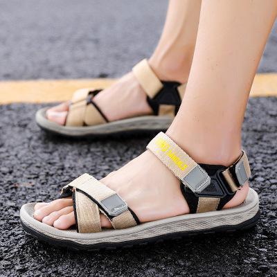 Mens Summer Hook and Loop Fastener Casual Sandals