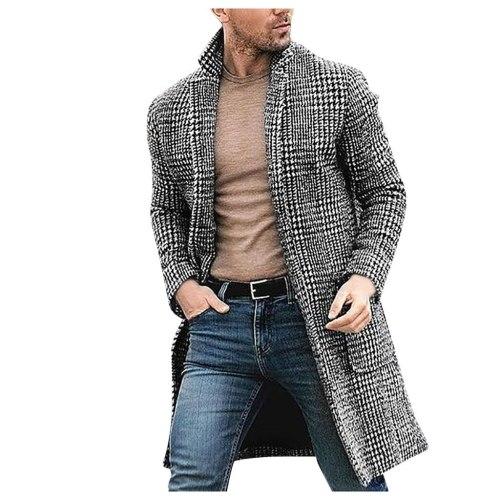KANCOOLD 2019 Mens Trench Coat Jacket Autumn Mens Overcoats Casual Hounstooth Gentlemen Coat for Men Clothing long coat men 1017