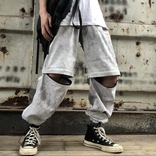Street Fashion Individuality Zipper Casual Pants LH027