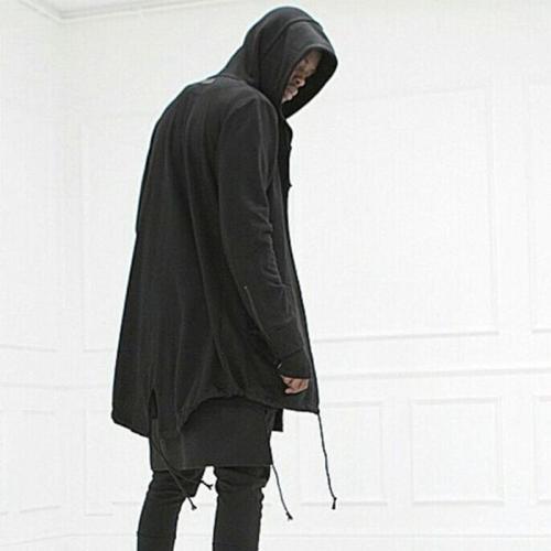 Men's Sweater Long Hooded Cloak Casual Jacket