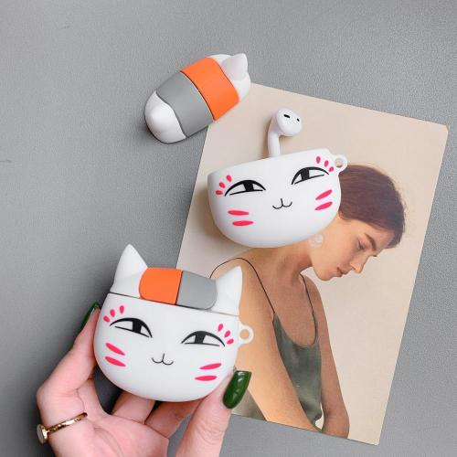 Kwaii Madara Cat AirPods Case Silicone Shockproof Cover