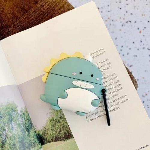 Kawaii 3D Dinosaur AirPods Pro Case Silicone Shockproof Cover