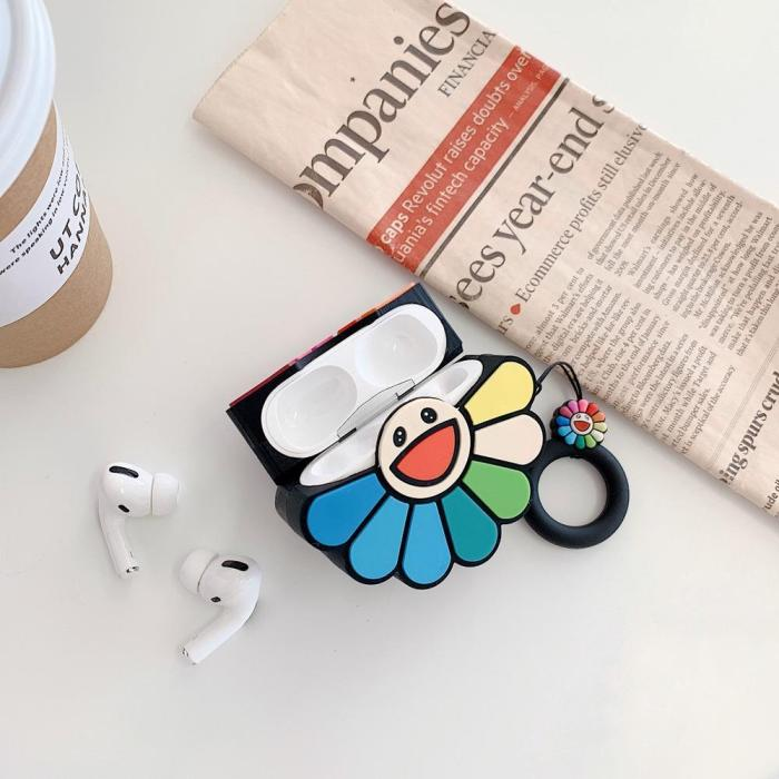 Kawaii Sunflower AirPods Pro Case Silicone Shockproof Cover