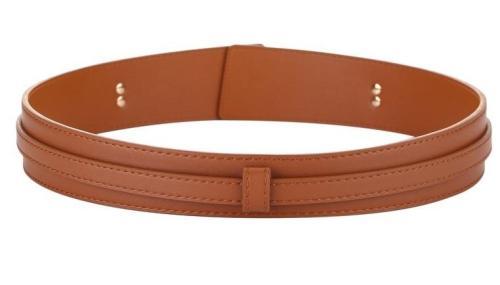 Fashion Wide cowskin Cummerbund Women's Cummerbunds knot real leather waistbands for Dress Decorate Waist belt coat accessories