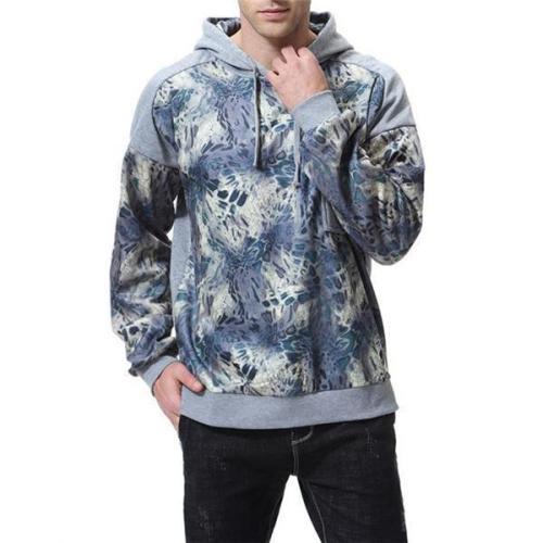 Casual Fashion Loose Print Long Sleeve Men Sport Hoodie