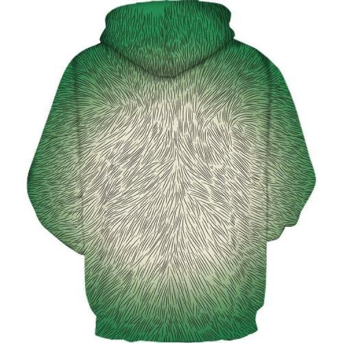 Orangutan Printed Hooded Loose Hoodies Sweatshirt